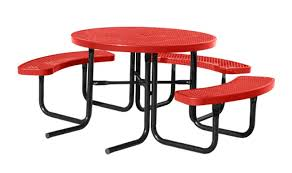 city series round ada picnic table green red