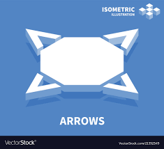Web Design Arrows Arrows Icon Isometric Template For Web Design