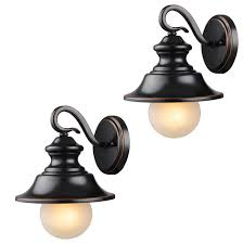 oil rubbed bronze outdoor patio porch exterior light fixtures set of 2 transitional