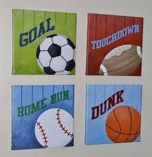 sports wall art set canvas prints