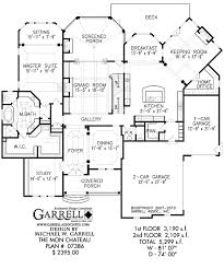 mon chateau house plan house plans by garrell associates, inc 1 5 Story House Plans With Loft mon chateau house plan 07386, 1st floor plan 1.5 Story House Plans with 3 Car Garage