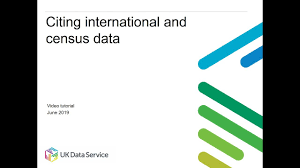 Citing International And Census Data