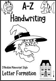 Manuscript Letter Formation Chart Kindergarten Handwriting Letter Formation Charts D Nealian Manuscript