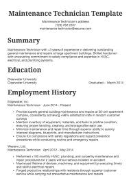 Maintenance Technician Resume Example Resume Com