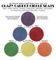 children s crazy carpet circle seats secondary wheel chart multi color sets of 6 18 round rug soft warm floor mat cushions