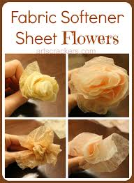 diy scented fabric softener sheet spring flowers