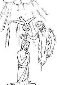 John Baptizes Jesus Coloring Page Being Baptized Coloring Page