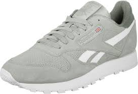 reebok classic leather mu shoes color grey
