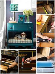 nightstand pet bed made of an old dresser
