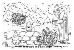 Kleurplaten De Goede Herder Clipart Geloven Is Leuk