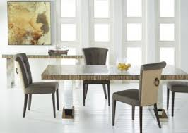 reclaimed wood dining table linen chairs