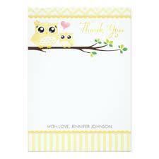 Owl Thank You Cards  Invitations Greeting U0026 Photo Cards  ZazzleOwl Baby Shower Thank You Cards