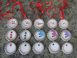 Decorated Bottle Caps Bottle Cap Christmas Ornaments The Yule Log 60 32