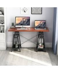 home office standing desk. Tribesigns Computer Desk Height Adjustable Standing Desk, 55\u201d Large Office For Home F
