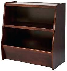 wood white bookcase with toy box bookshelf babies us next steps and storage espresso wooden bookcases