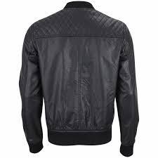 ecko men s hip hop leather look jacket black