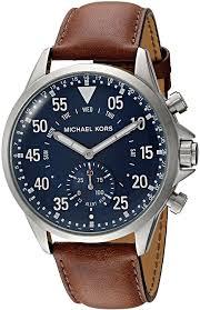 michael kors mens silvertone leather strap gage hybrid smart watch 91nrz 2byqq9l ul1500 jpg