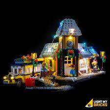 Lego Winter Village Lights Light My Bricks Lego Winter Village Station 10259 Lighting