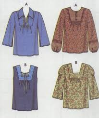 Simplicity Blouse Patterns Custom Simplicity 448 Woman's Peasant Blouse Pattern Sz 448 48 48 48
