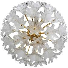 murano glass wall ceiling light flush mount chandelier by venini for veart 1960s