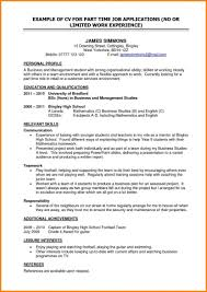 Resume Sample For Part Time Job Part Time Job Resumes Examples Sidemcicek Com Resume For Highschool 24