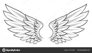 Tattoo Styl Křídla Stock Vektor Zayatsandzayats 190144354