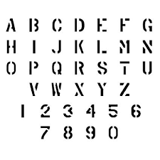 Amazon Com Military Letter And Number Stencil Set 3 Inch
