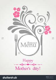 Mother S Day Menu Template Happy Mothers Day Restaurant Menu Card Design Menu