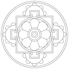 Small Picture Simple Tibetan Mandala coloring page Free Printable Coloring Pages