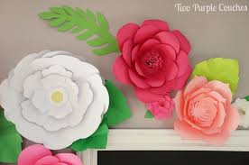 How To Make Paper Flower Backdrop Diy Giant Paper Flower Backdrop Two Purple Couches