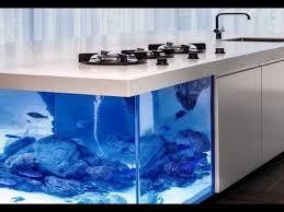the ocean kitchen a giant aquarium kitchen island