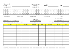 Best Basketball Score Sheet Template Excel 2003 Image Collection