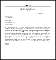 Cover Letter Examples For Nurses Aide Adriangatton Com