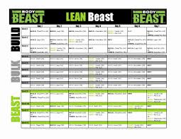 workout sheets body beast schedule excel best of free improved body beast workout