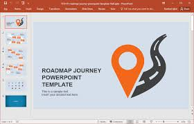Free Roadmap Template Powerpoint Road Map Template Free Download