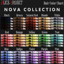 Novacolor Hair Color Chart Nova Large Color Chart Extended Nova Hair Texture Collecti