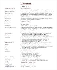 Resume Hair Stylist Hairstylist Resume Professional Hair Stylist Template Word