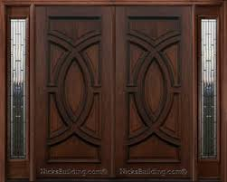 front double doorsExterior Double Doors with Sidelights  Solid Mahogany Doors