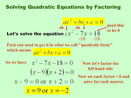 solving quadratic equations by factoring 3 extracting square roots