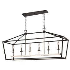 bel air lighting lacey 6 light black and brushed nickel pendant