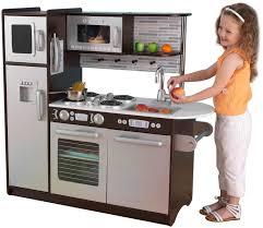 Retro Play Kitchen Set Amazoncom Kidkraft Uptown Espresso Kitchen Toys Games Luke