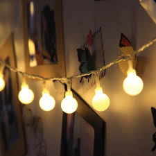indoor string lighting. 40 Led Globe String Lights Battery Operated Indoor Light Warm White Ball Fairy Ideal For Christmas, Party, Wedding Bedroom-in Lighting Strings From T