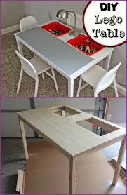 Transform IKEA Dinning Table Into Lego Play Table