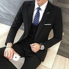 3 Pieces Black <b>Suit</b> Latest Coat Pant Designs <b>Suit Men New Arrival</b> ...