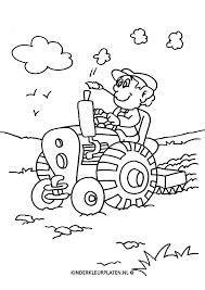 Kleurplaat Trekker Tractor Agrarier Beroepen