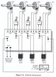 channel audio mixer circuit audio mixer external wiring