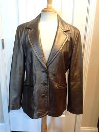jcpenney leather jacket metallic bronze lambskin for in ana faux