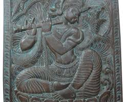 indian wood carving wall art