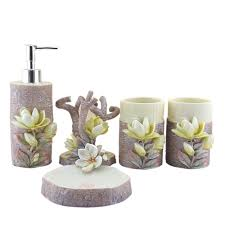 Resin Bathroom Accessories Aliexpresscom Buy Personality 5pcs 3d Lily Sculpture Resin
