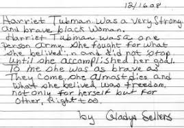 gladys s essay on harriet tubman dlc adult literacy community  11 2009
